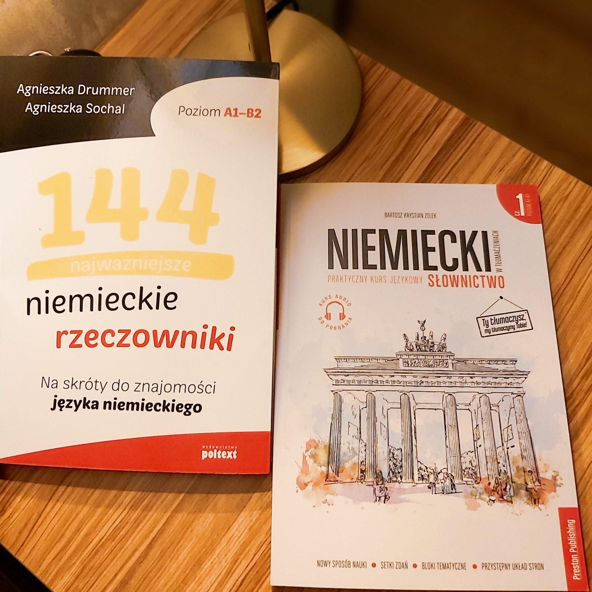 """20201018 203136 - Recenzja książek: """"Niemiecki w tłumaczeniach. Słownictwo"""" i """"144 najważniejsze niemieckie rzeczowniki""""."""